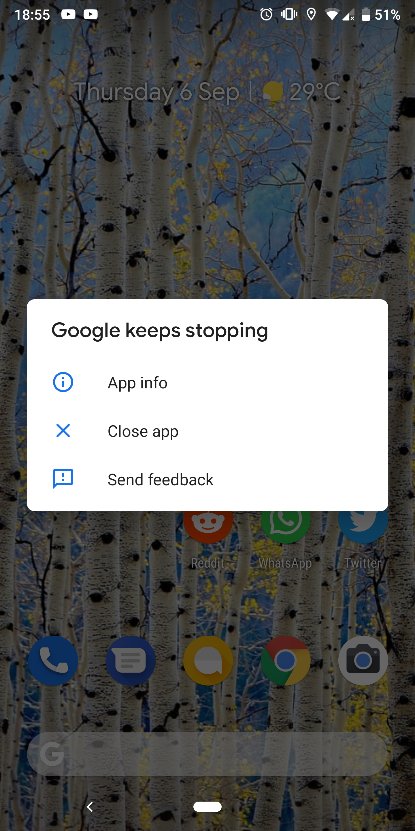 Google assistant crashes on Pixel 2 XL Android 9 - Google