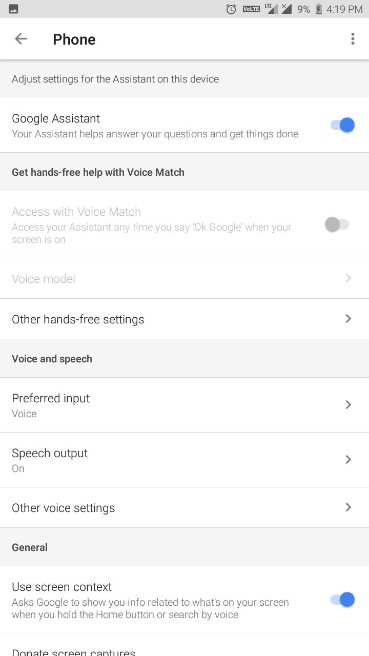 google voice match