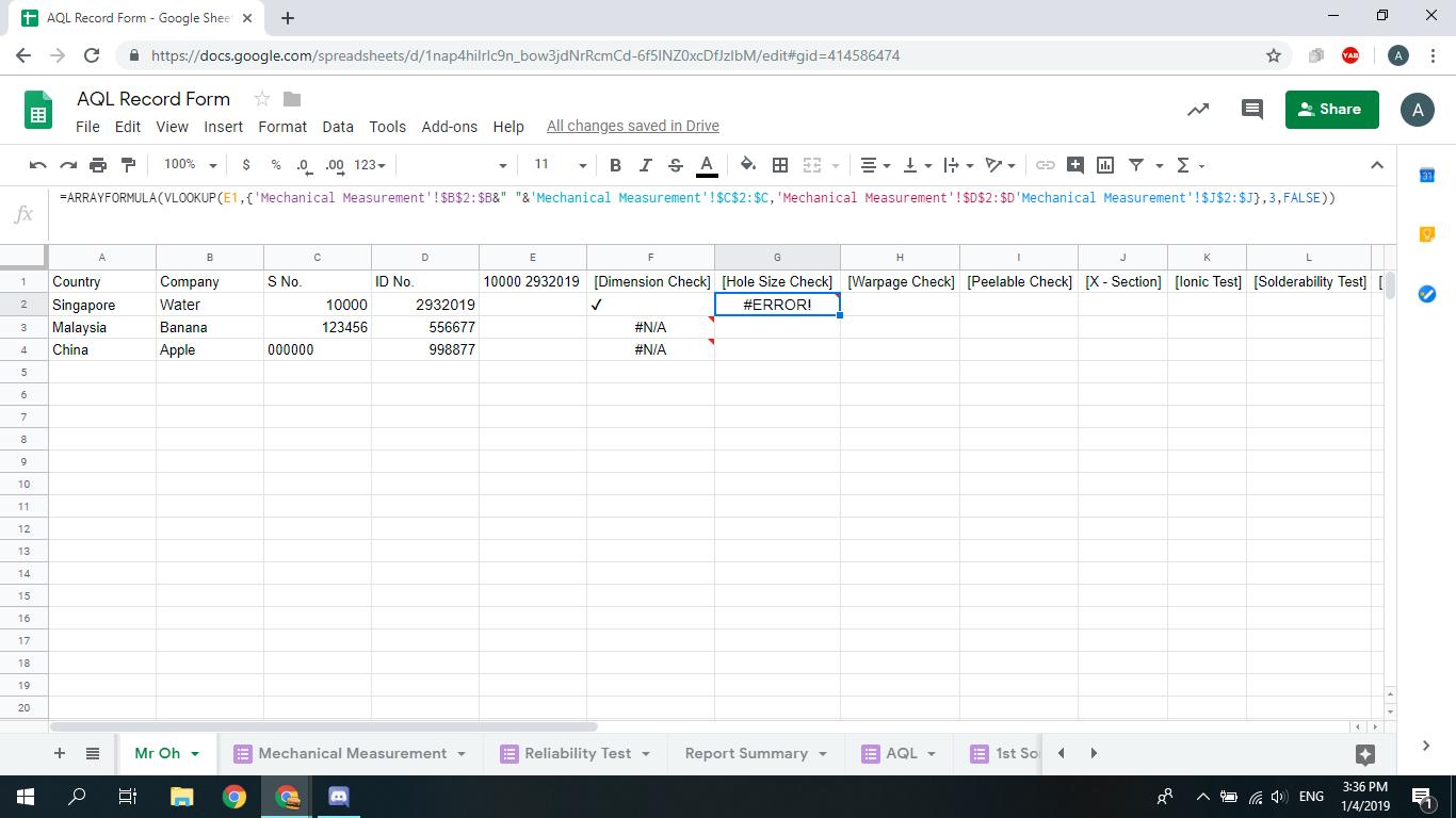 Vlookup Multiple Criteria in Google Sheets - Docs Editors Help