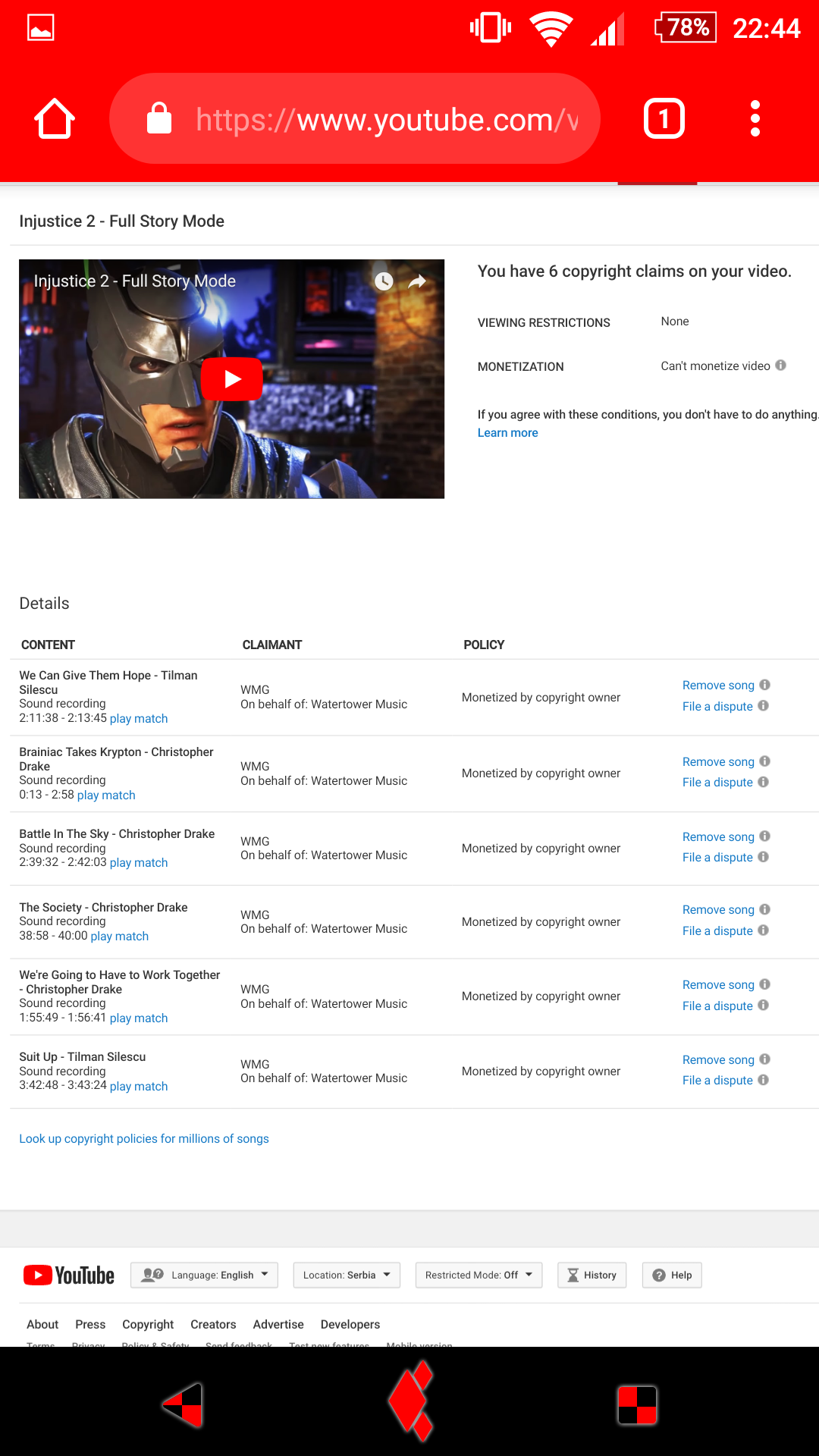 Why Do I Get Copyright Claimed For Using Music From The Video Game