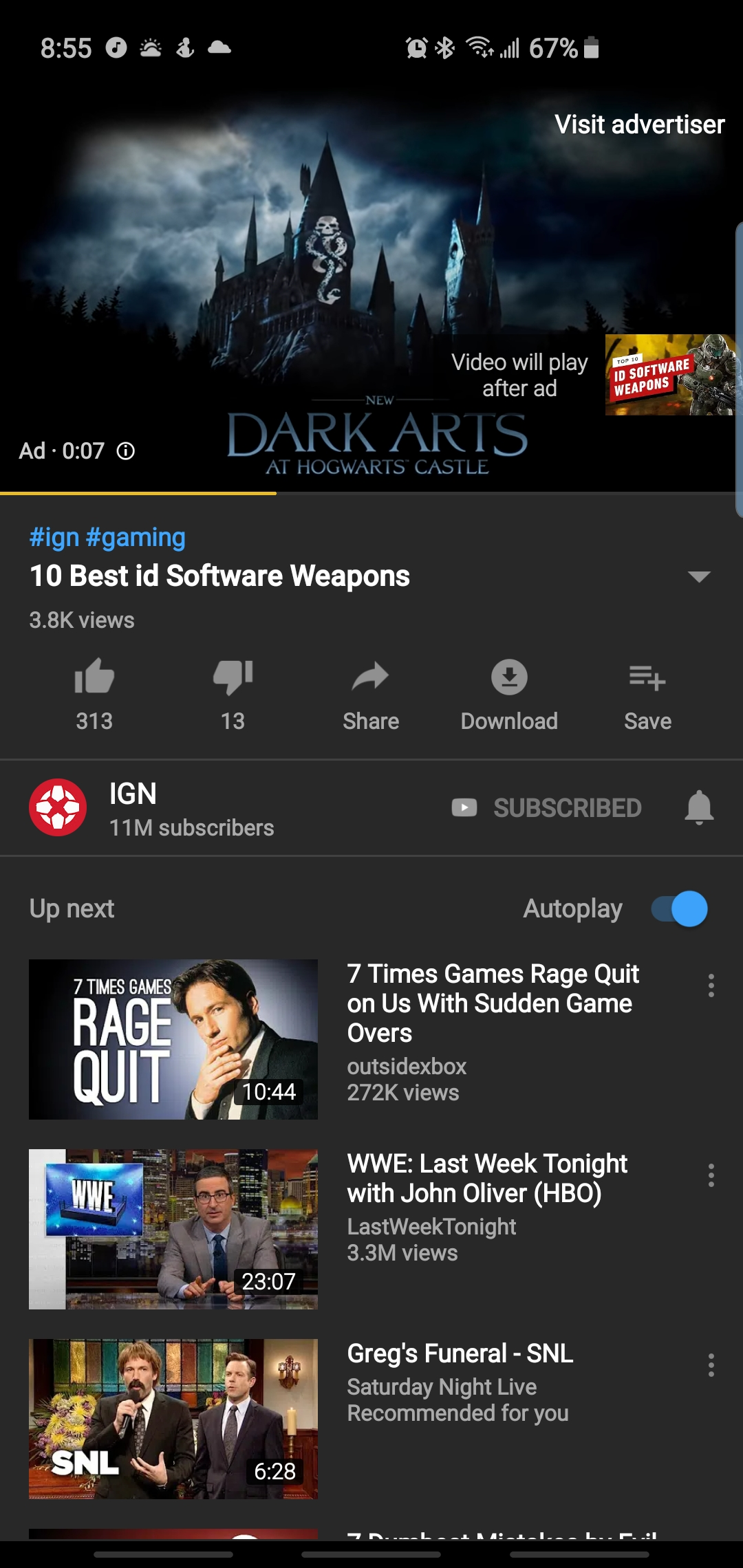 Short Ads showing up on my YouTube premium before the video