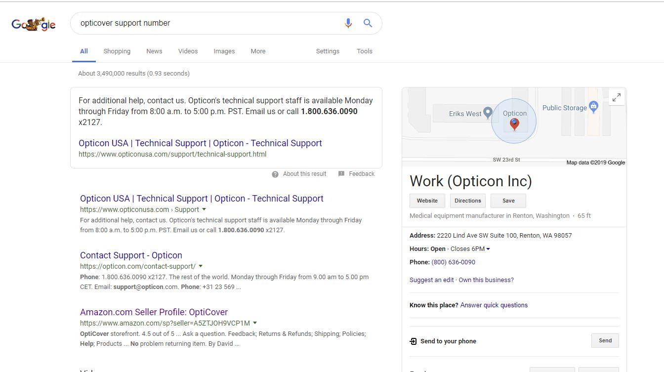 wrong company - Google Search Help
