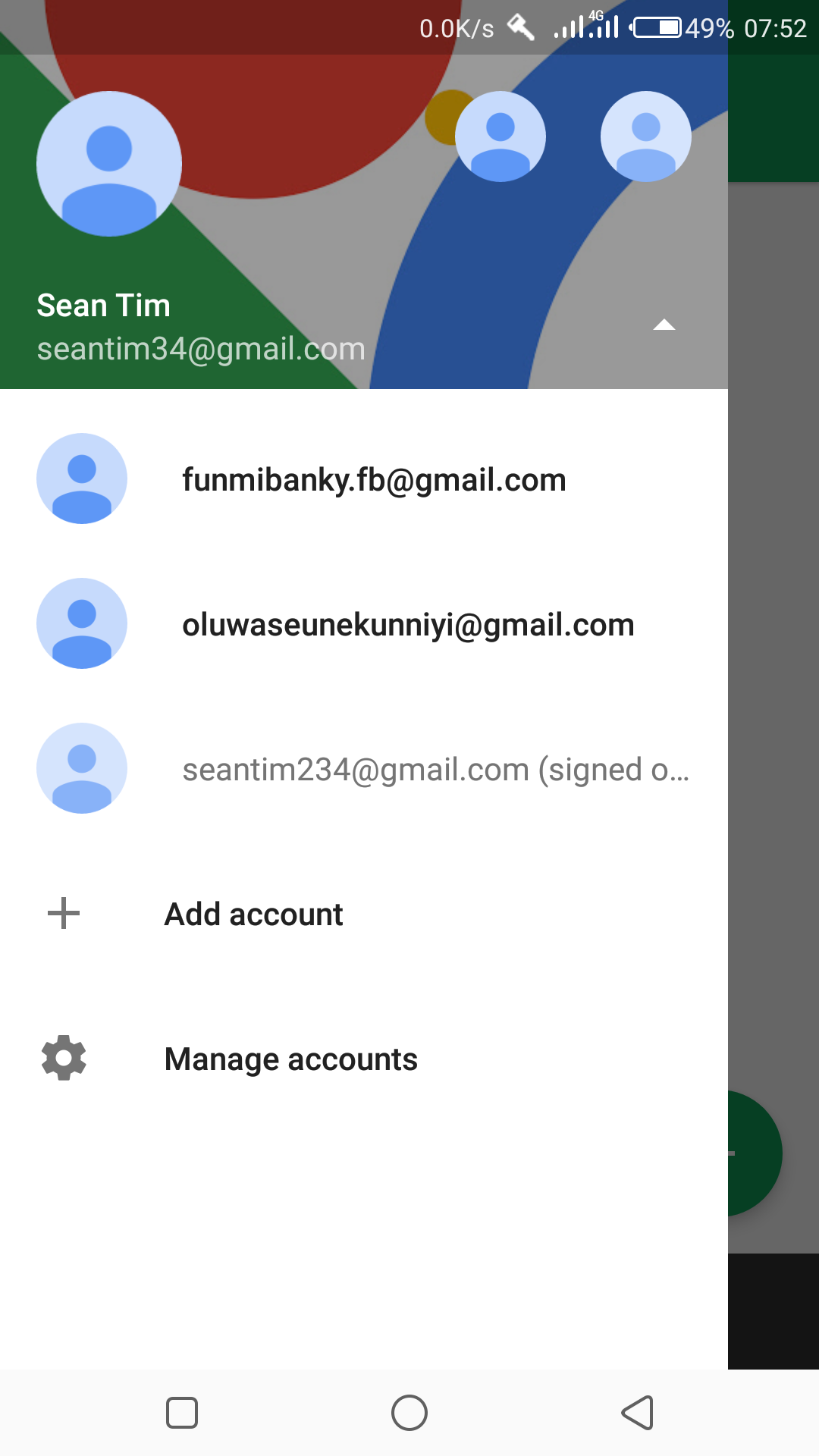 I linked 3 different accounts to my hangouts application but I can't