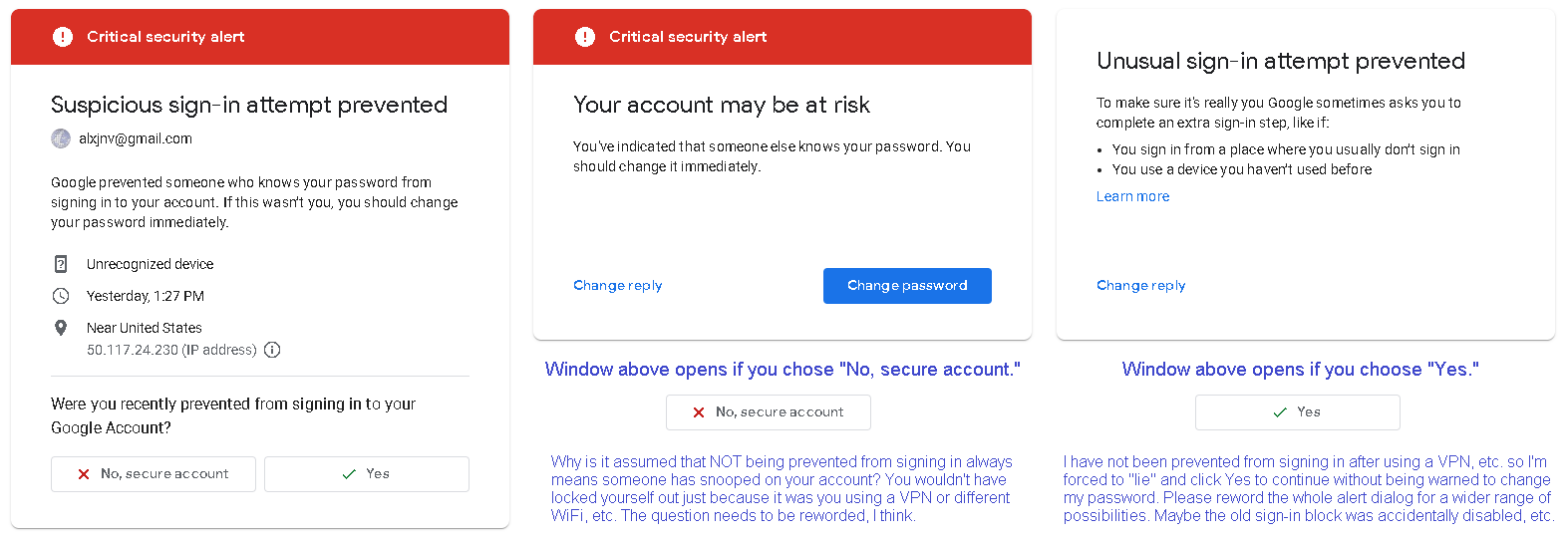 how do i change security question in gmail