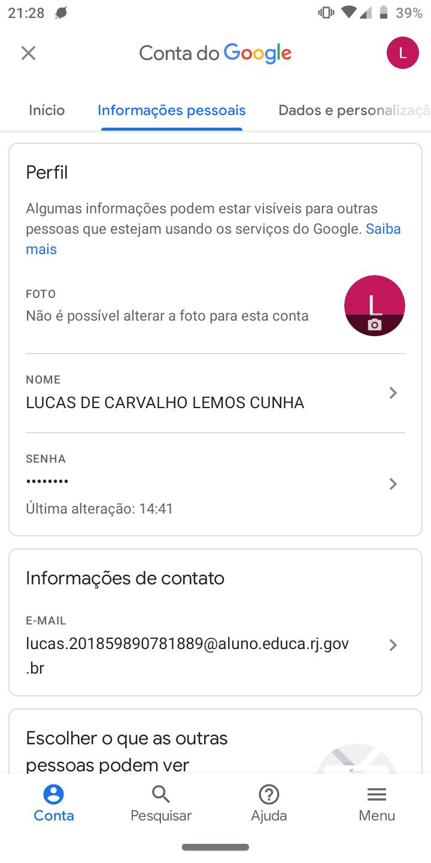A função mudar foto na minha conta do Google está bloqueada e eu não  consigo mudar. - Conta do Google Community