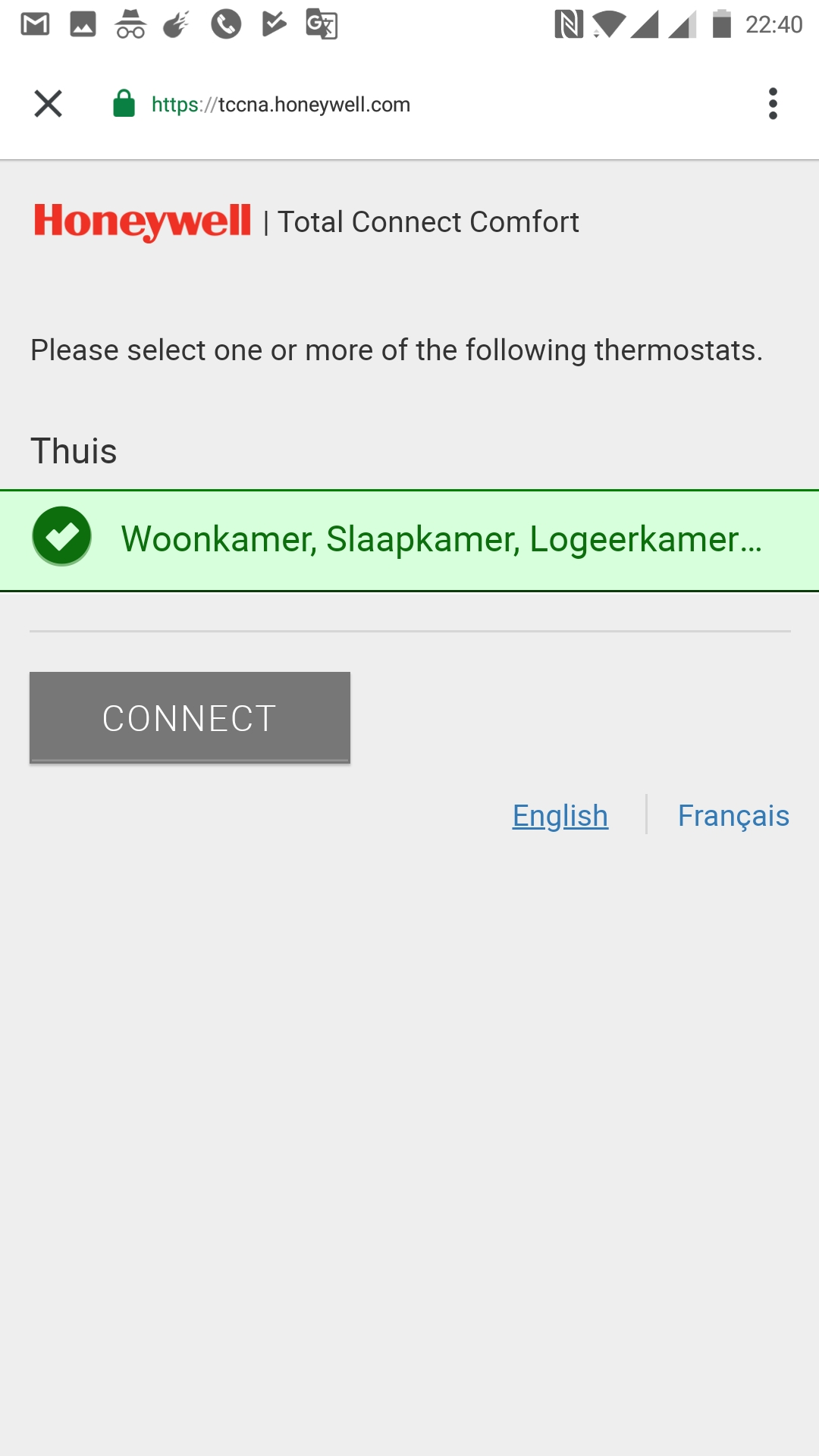 Can't reconnect Google Home to Honeywell Evohome Total
