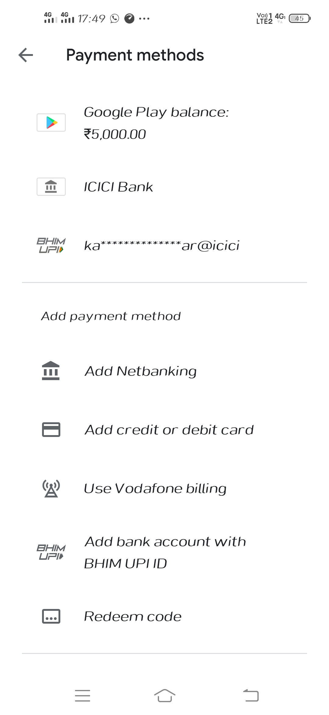 My Money Credit To Google Play Balance