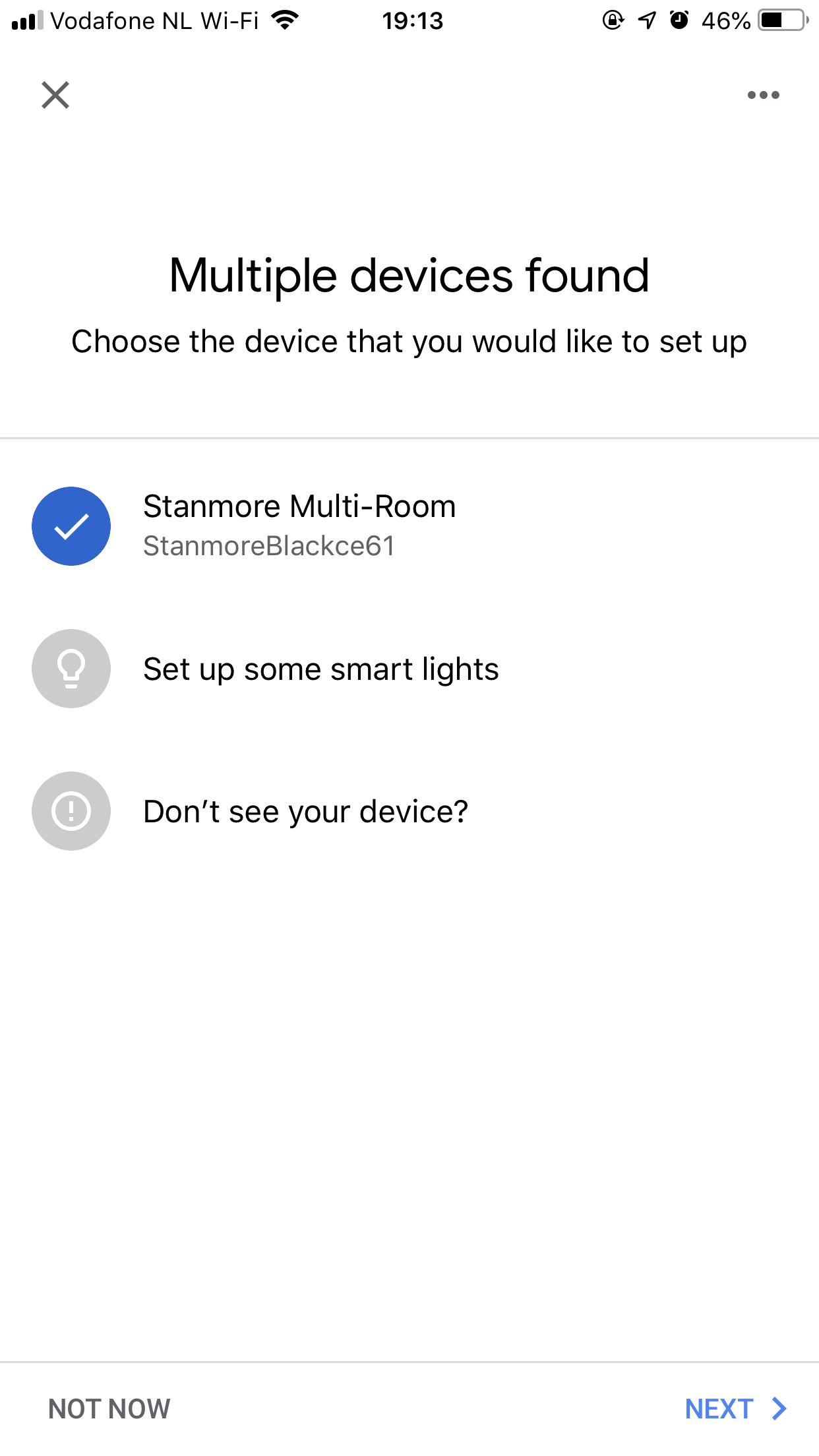Can't connect my Marshall WiFi speaker  The google home app