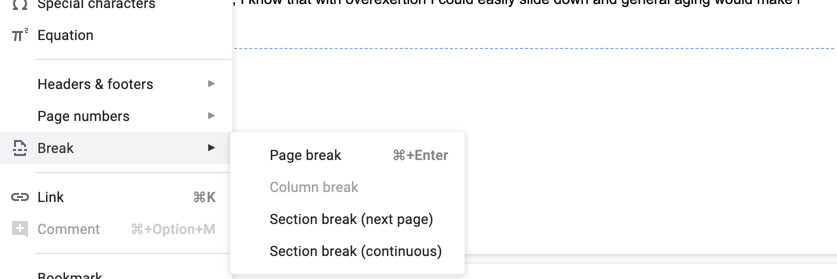 Can T Delete A Section Or Page Break On Mac Docs Editors Community Depending on why the unwanted page exists in your document, you can remove it with ease using one of here's a step by step guide on how to delete a page with the highlight method. t delete a section or page break on mac