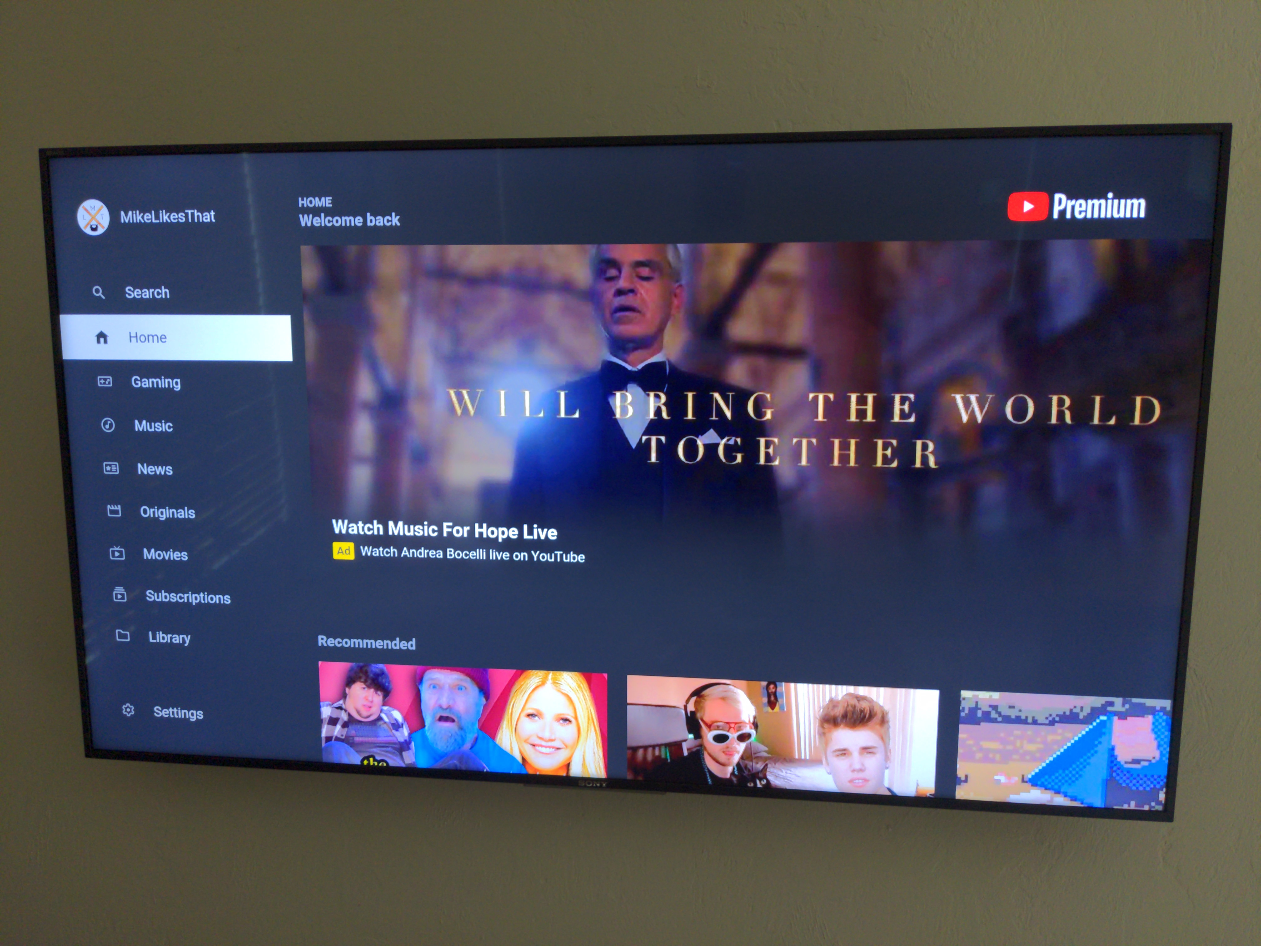 Youtube Premium Android Tv App Shows Banner Ads Youtube Community