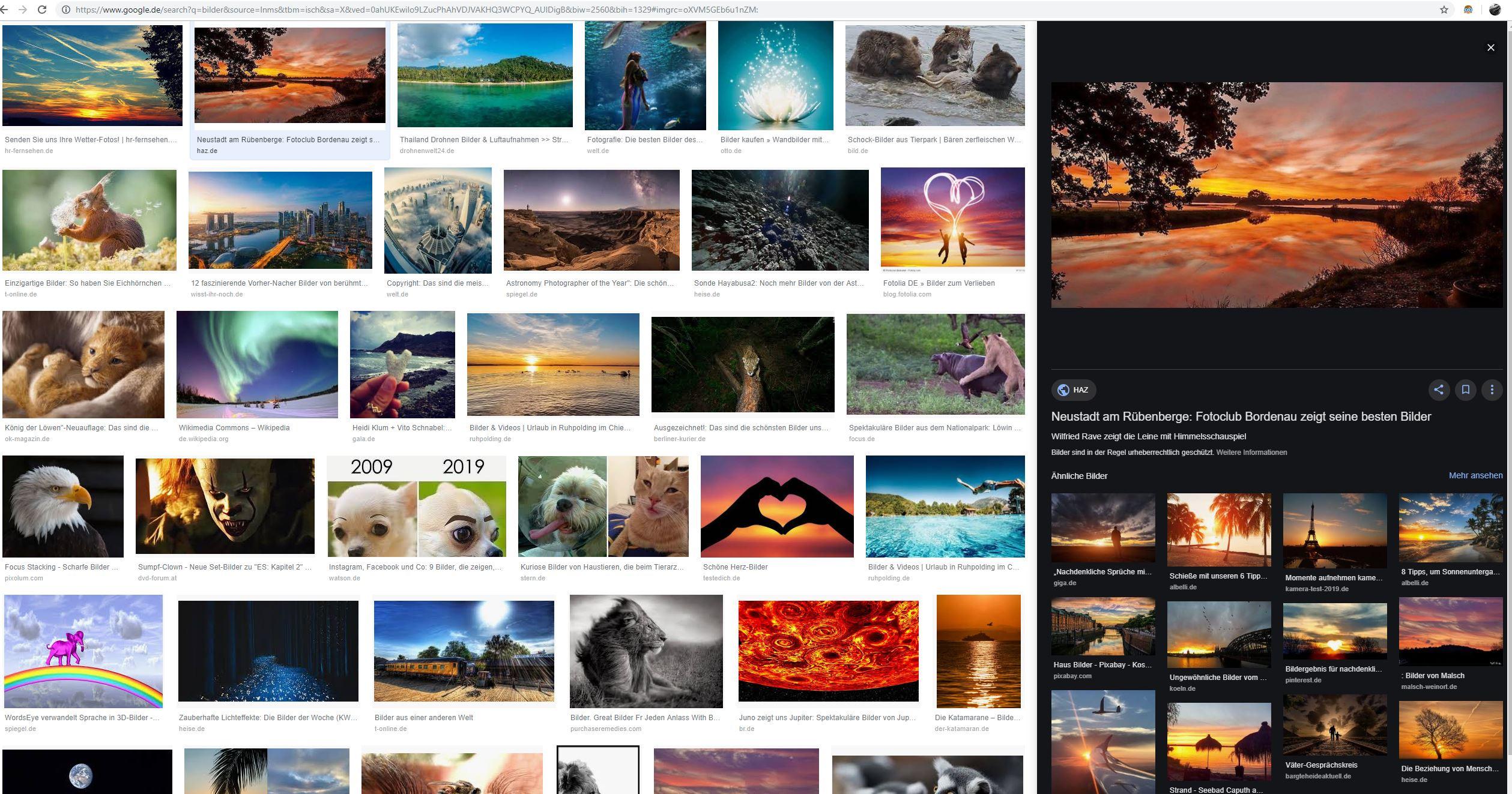 Alle Anderen 2009 google-bilder werden neuerdings auf der rechten seite des