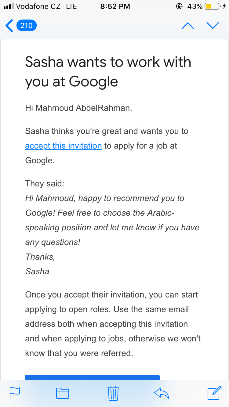 I Received Google Work Invitation That I Unable To Accept Is