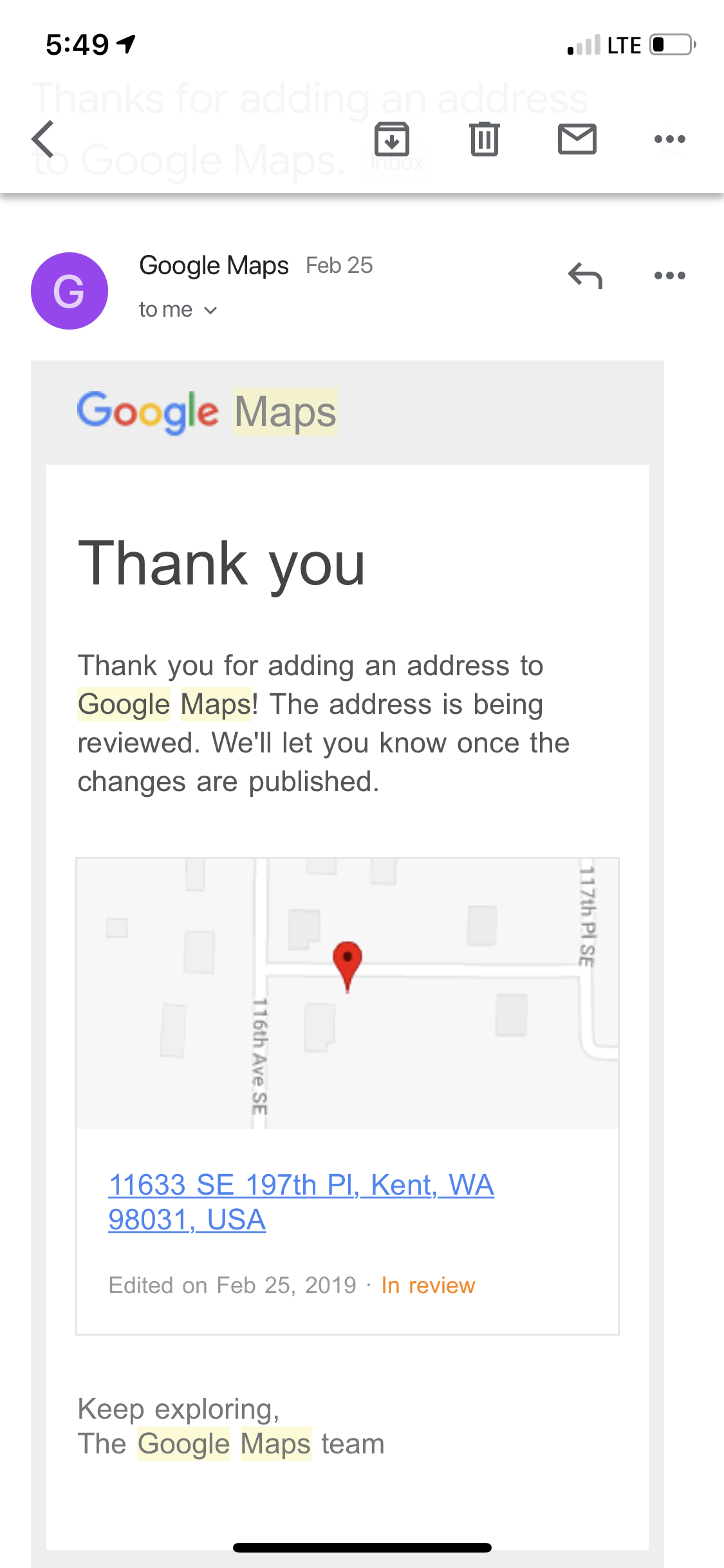Address shows at wrong location - Google Maps Help on google location finder, google latitude history view, google location icon, google address location, google car location, google location pin, google maps listing, google maps icon, google marker, google maps example, find ip address location, google location app, google compound, my current location, find current location, marketing location, google products, google maps funny, google maps history, google my location,