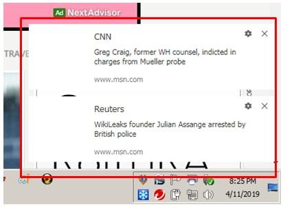 Pop-up News feed - Google Chrome Community