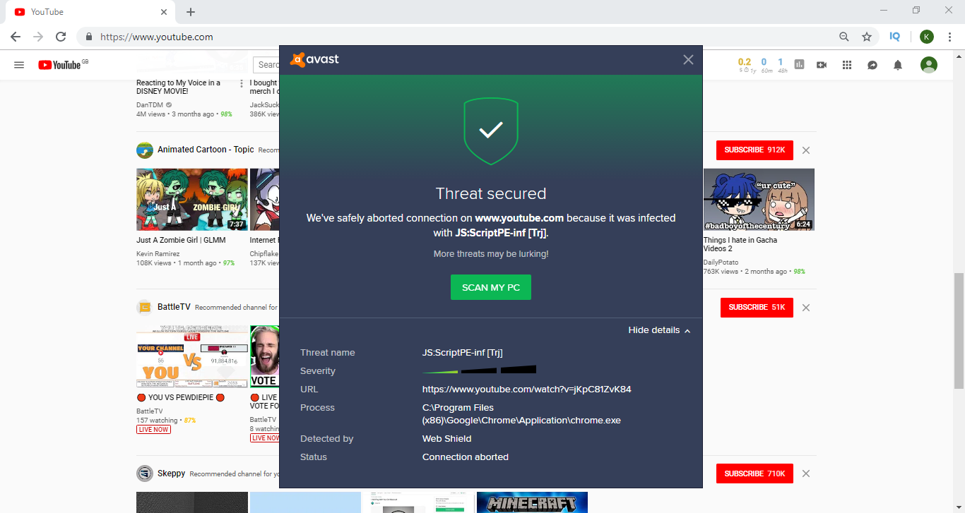 avast reporting false positives