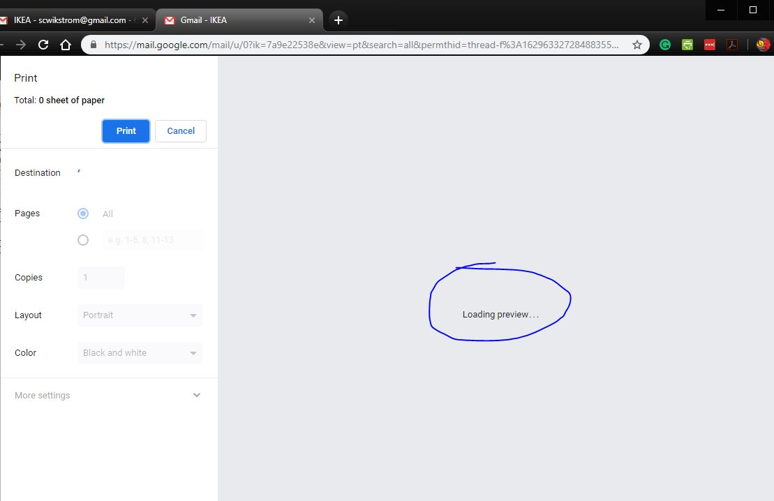 Chrome won't load Print Preview - Google Chrome Help
