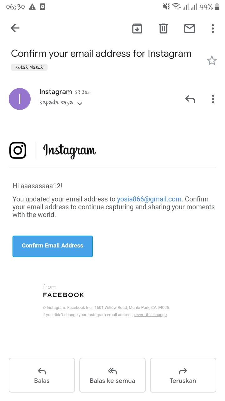 ada seseorang buat akun instagram