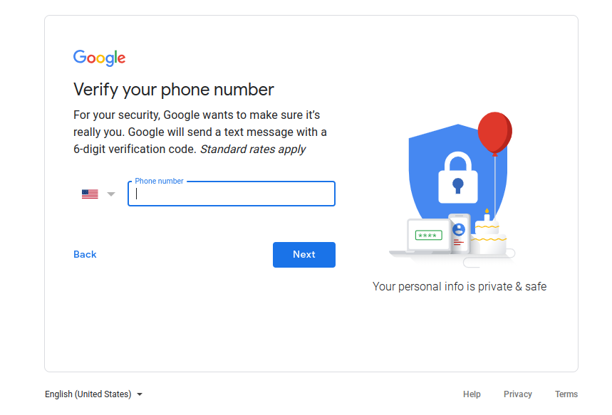 When I try to create a Gmail address, it asks for my phone number ...