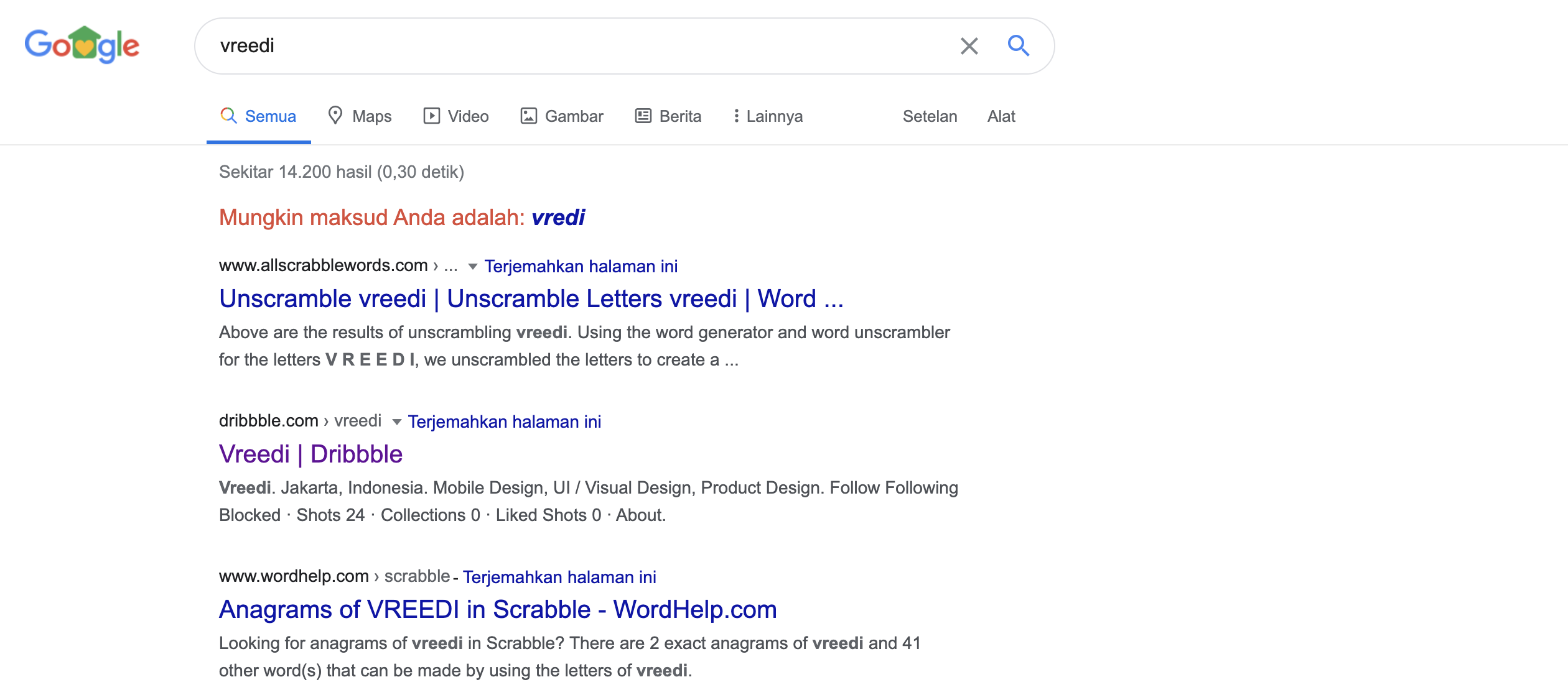 why when I search my web on Google by simply writing my domain ...