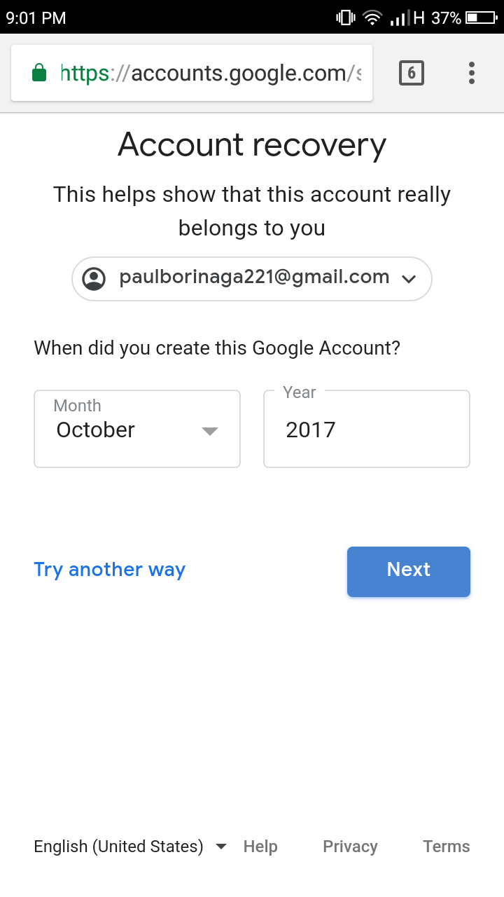 I cant recover my account - Google Account Help