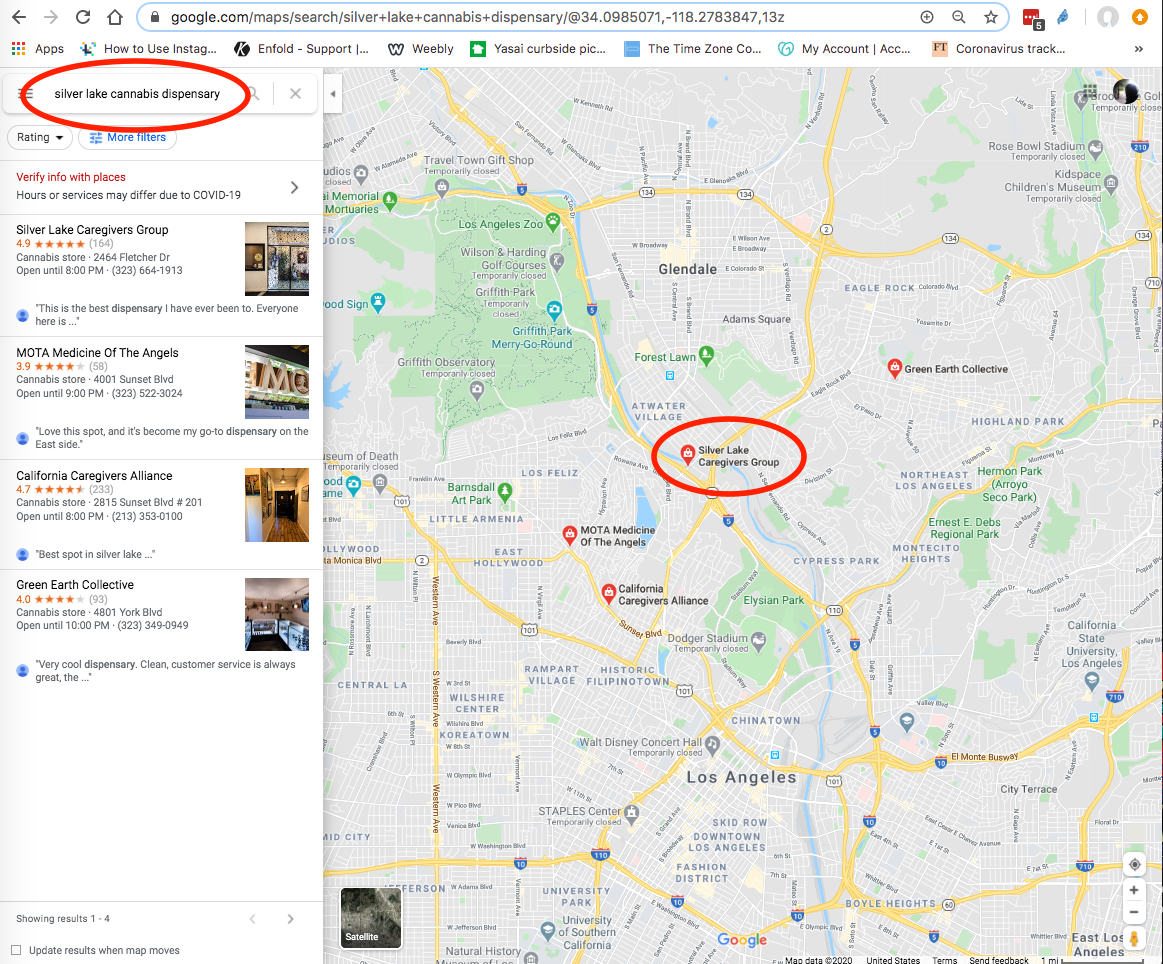 silver lake los angeles map Why Does Business With La Address Not Appear When Searching Maps silver lake los angeles map