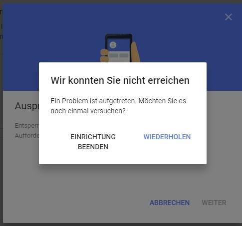 Anmeldung nicht möglich android gmail Synchronisierungsfehler mit
