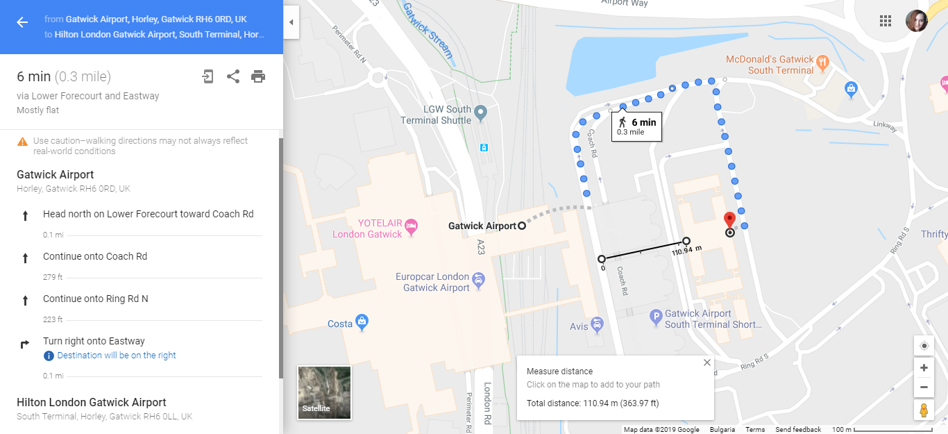 Walking Directions Update - Google Maps Help on land area measurement tool, button measurement tool, google earth measurement tool, distance measurement tool,