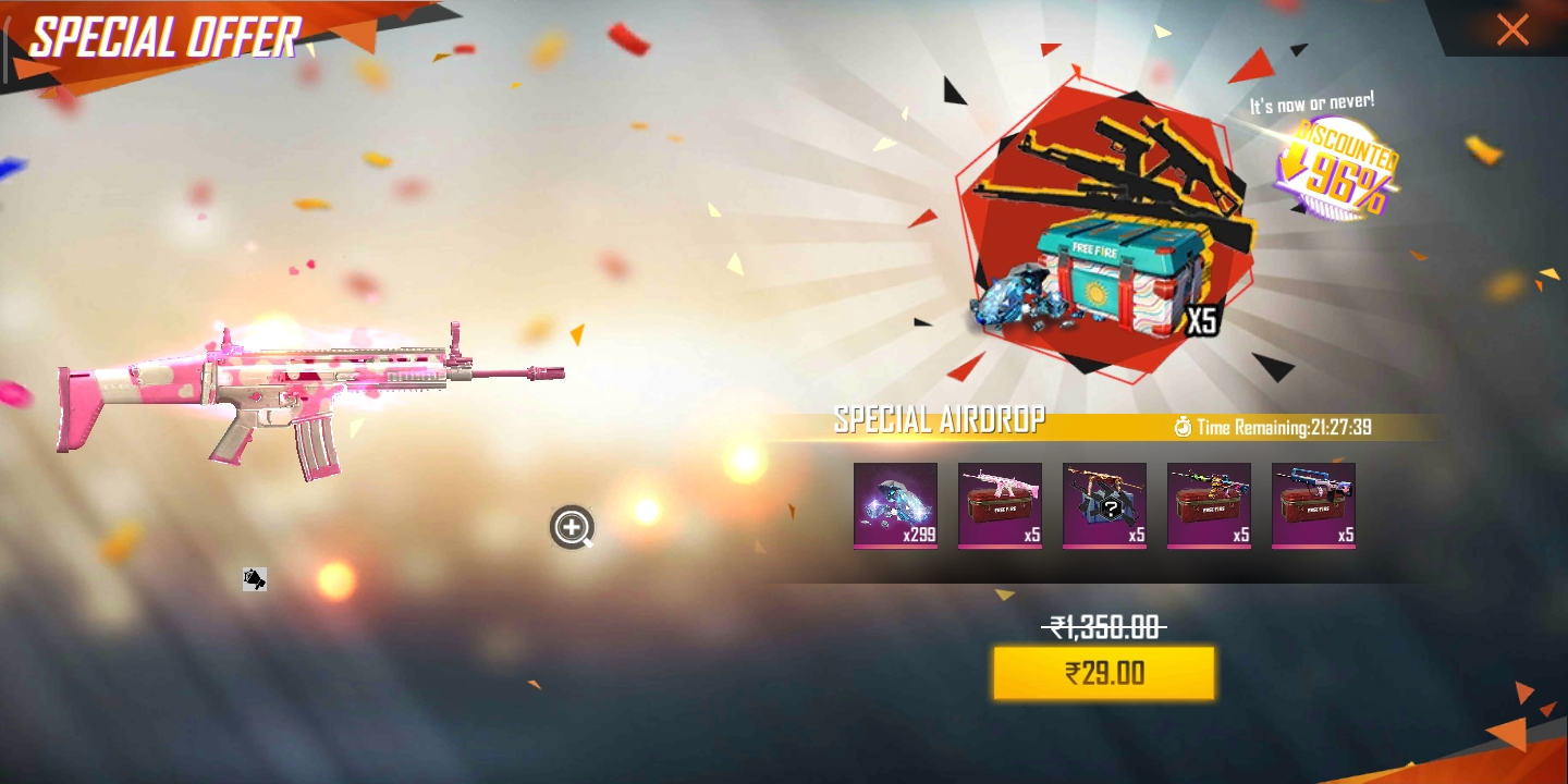 I Am New Free Fire User And 29 Offer Is My I D On And Purchase But Not Received 1203859349my Id Gmail Community