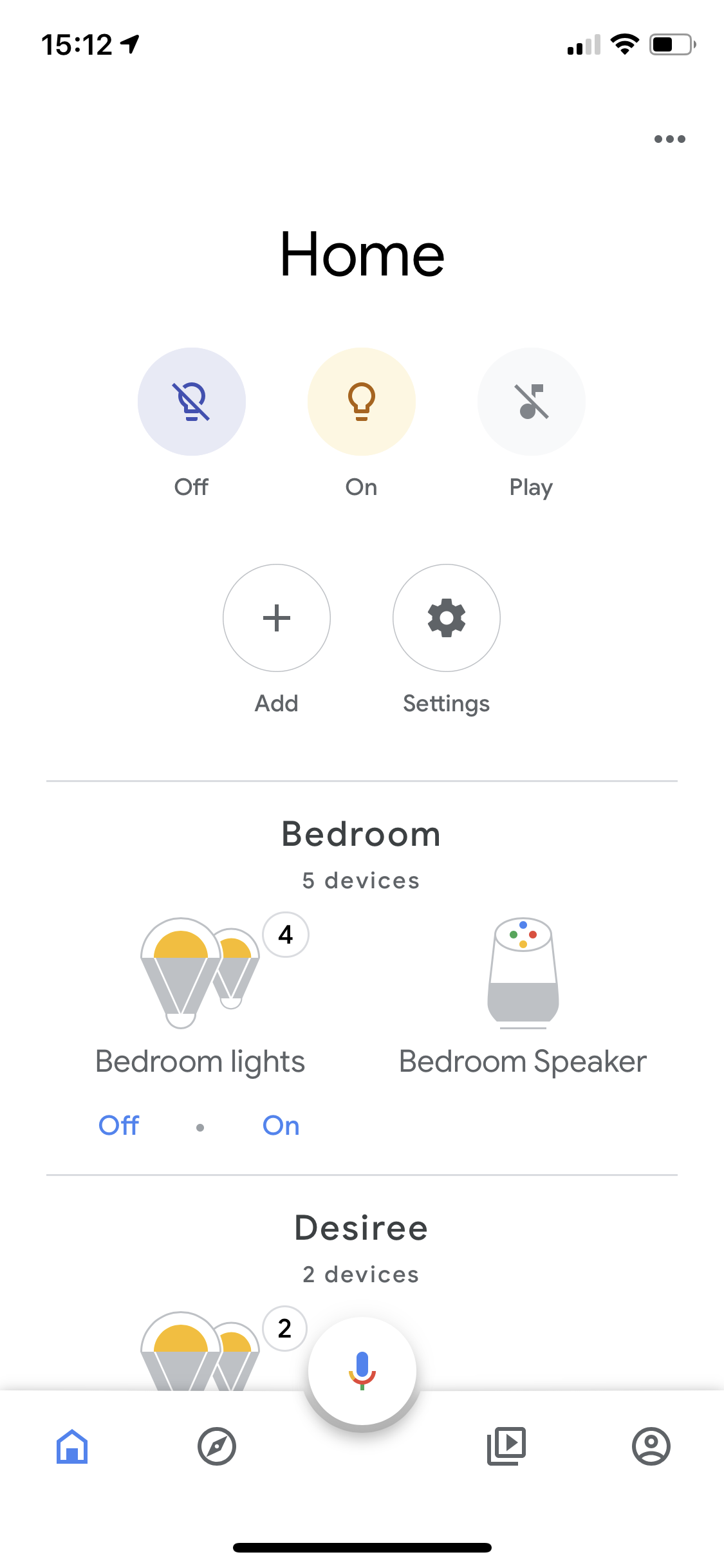 Broadcast and routine button are gone from the google home