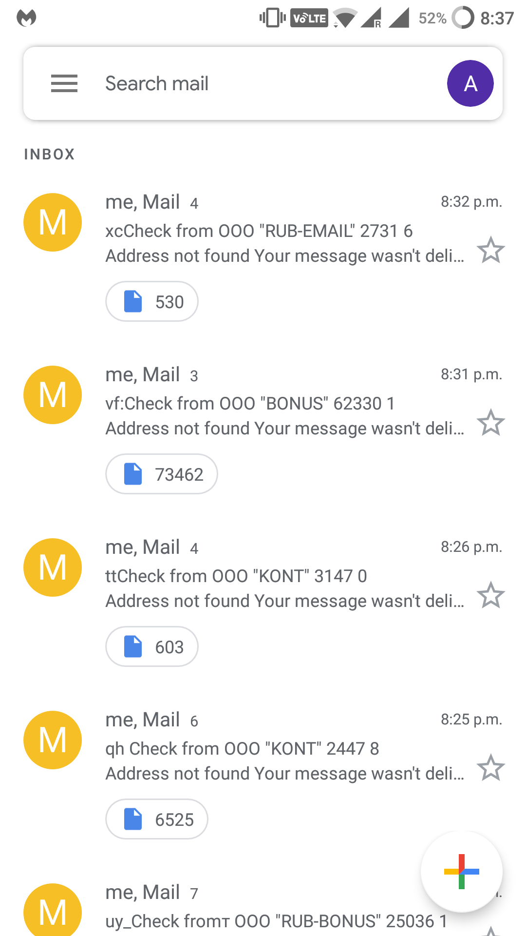 Gmail account sending out spam emails to random ids