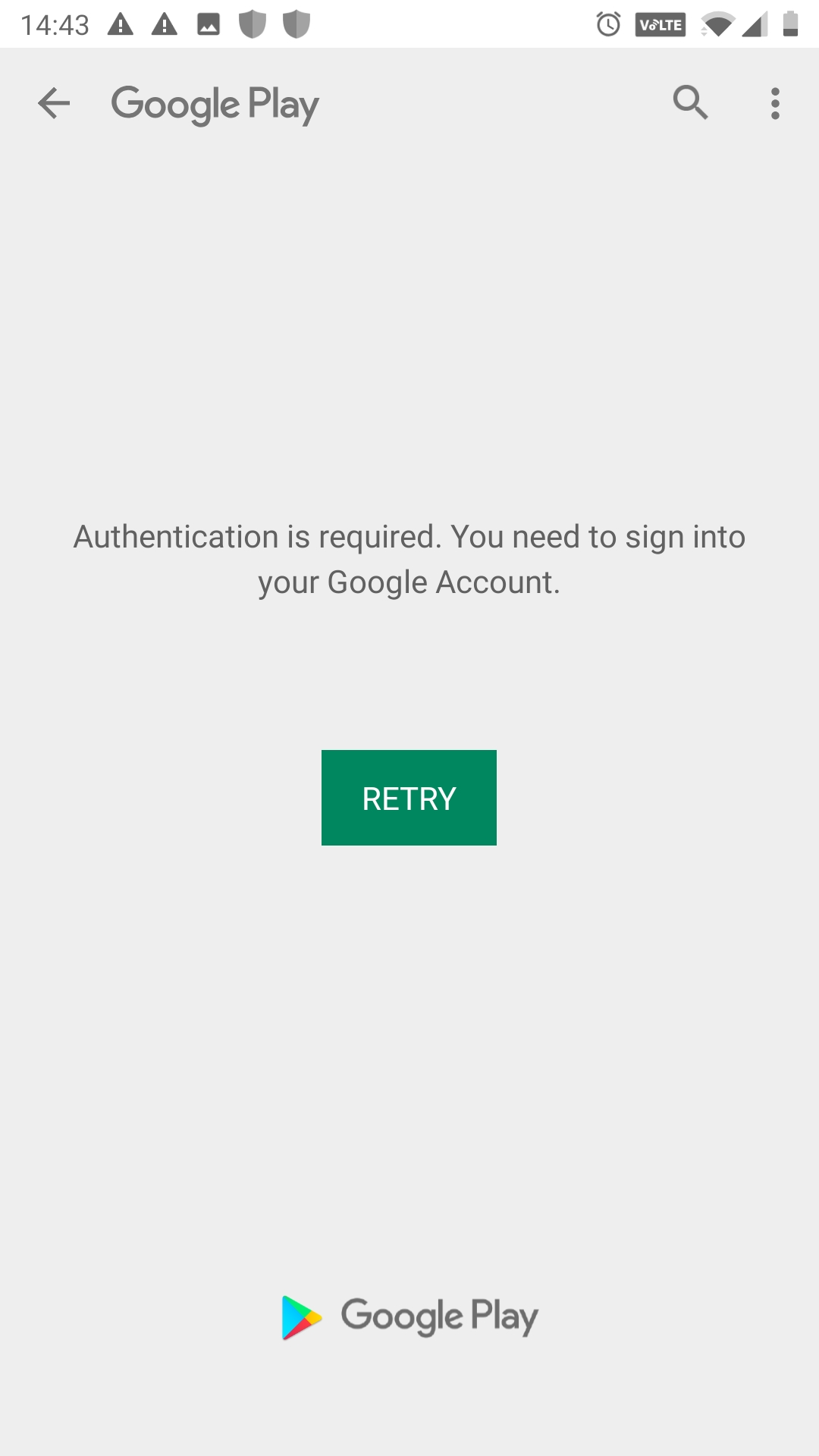 I am trying to update WhatsApp Messenger on Google Play