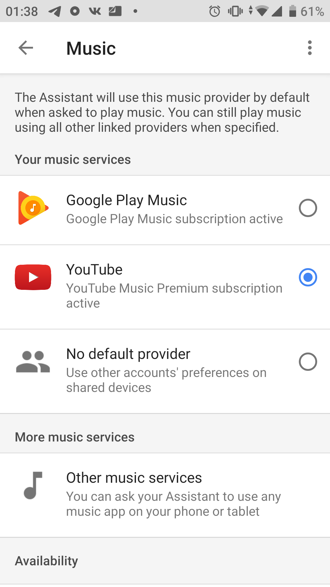 I Can T Select Youtube Music As My Default Music Service In Google Assistant Google Assistant Community
