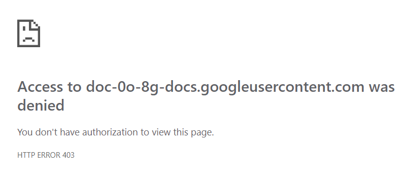Access denied to downloading any file - Google Drive Help