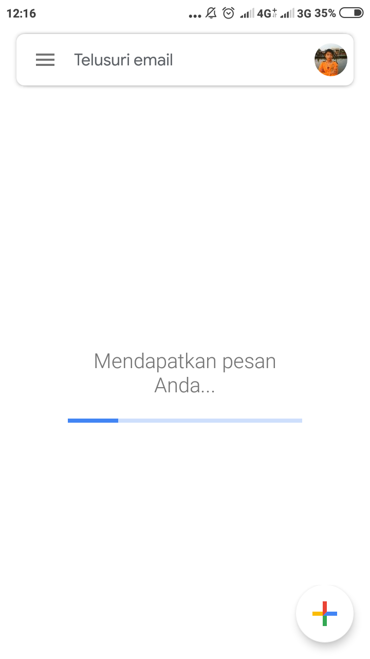 i cannot open my email in my android app, it just buffering infinity