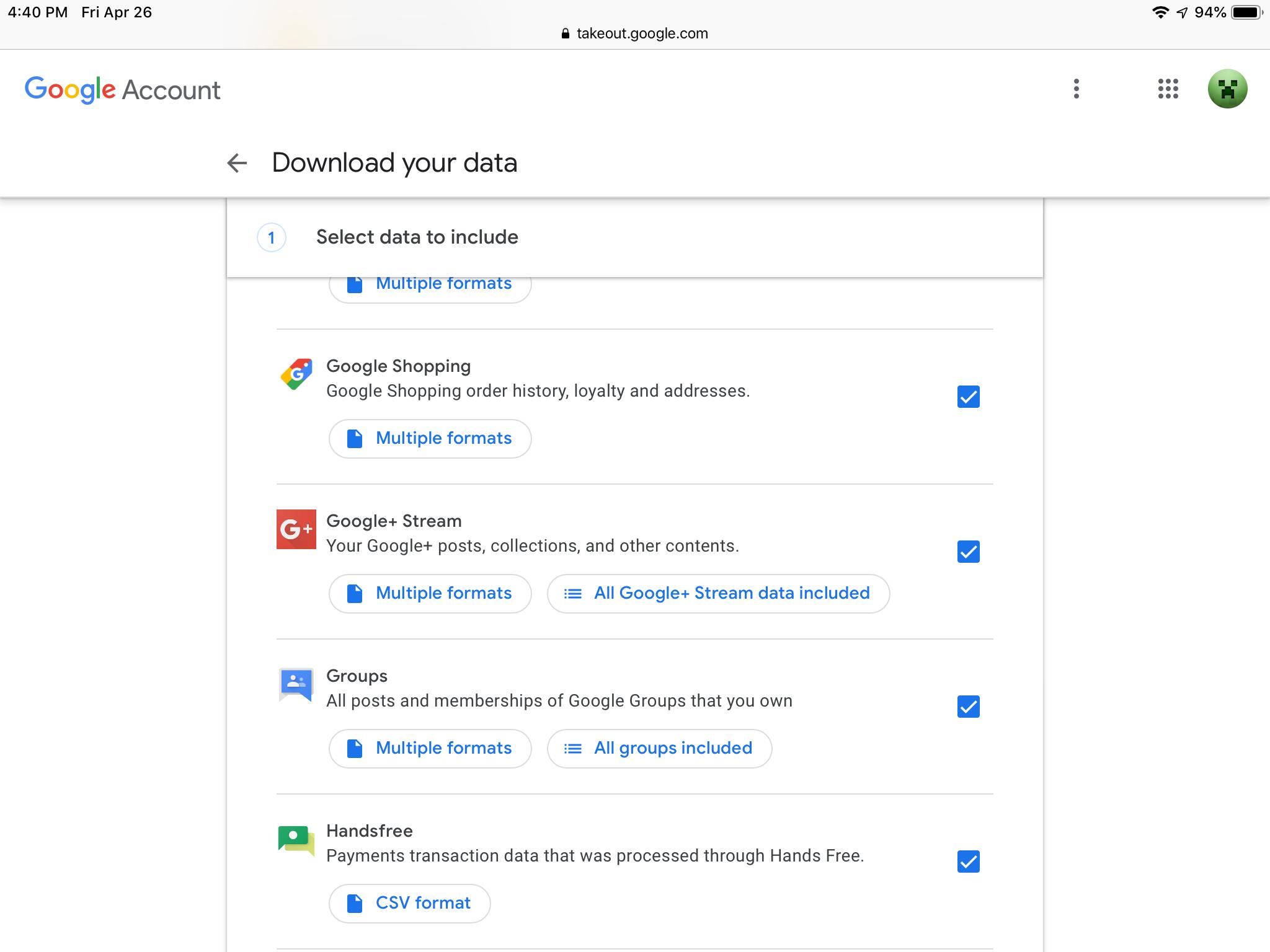 MeWe data inport - Google+ Help