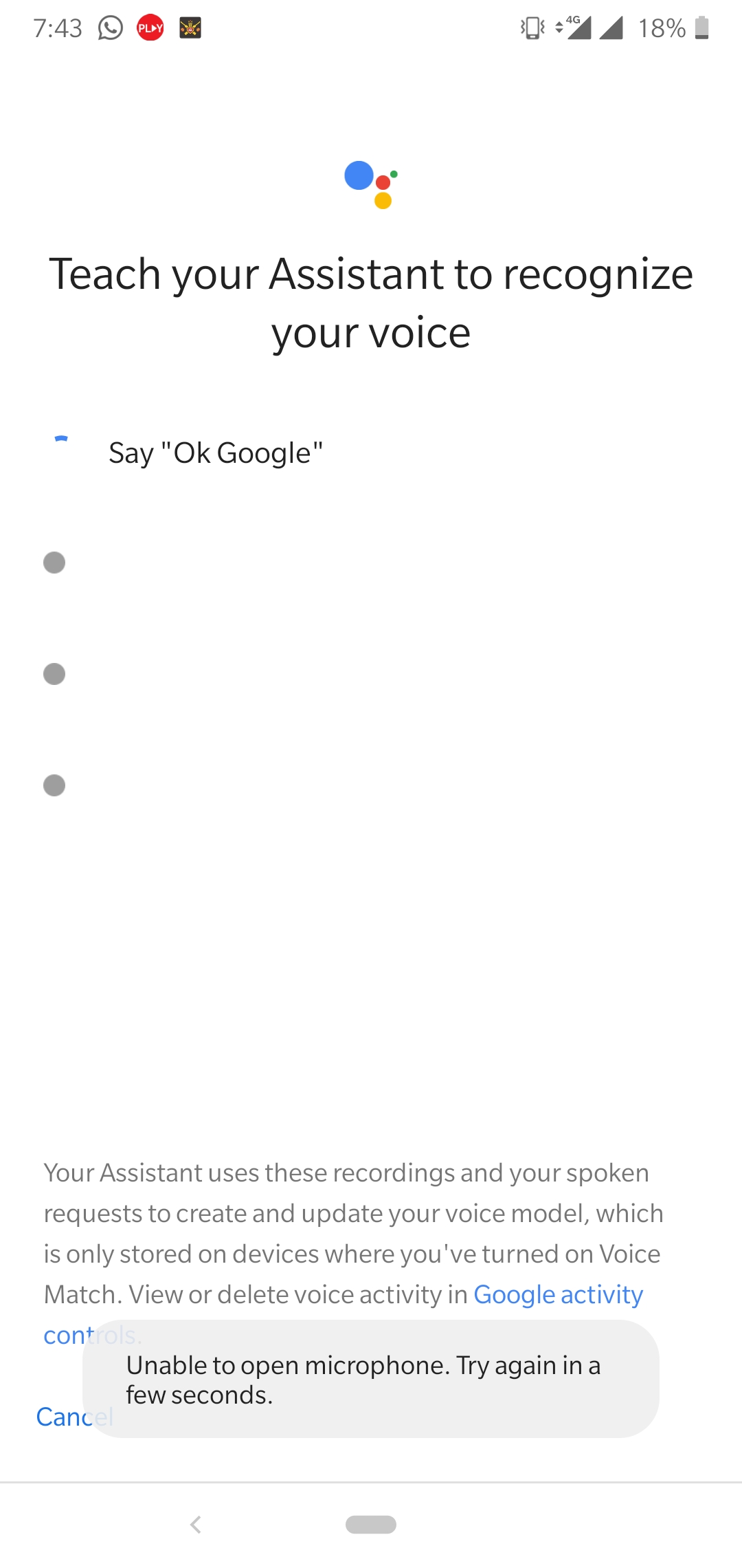 My voice match not working - Google Assistant Help