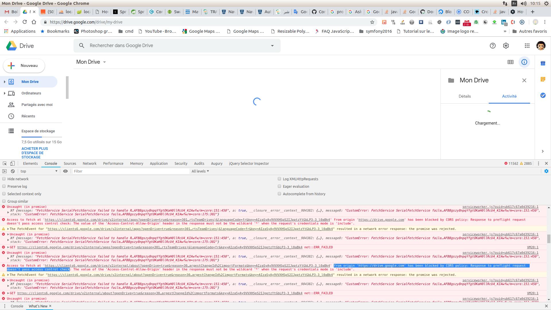 from origin 'https://drive google com' has been blocked by
