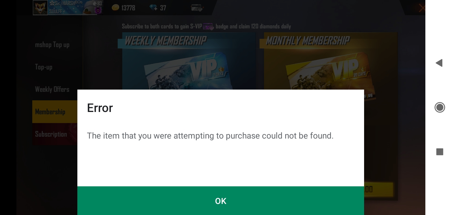 Why I Don T Purchase In Free Fire Game When I Have Money In Google Play Store Money Google Play Community