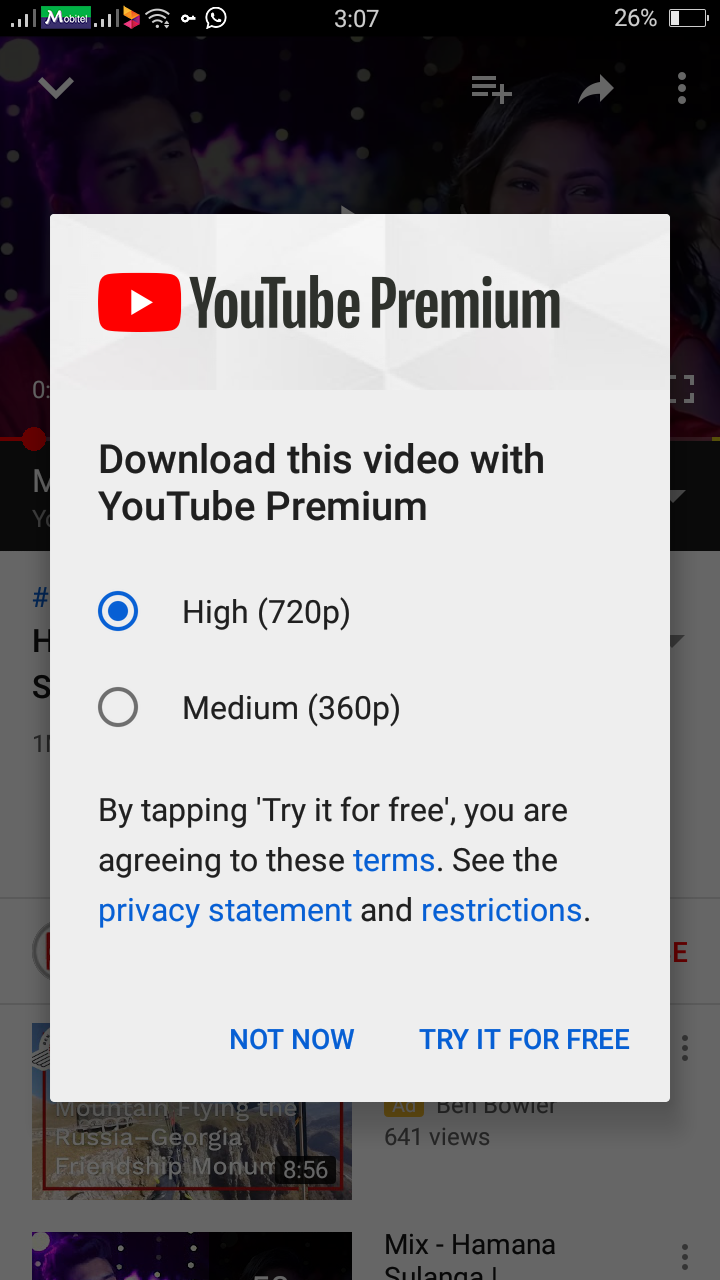 I don't want youtube premium model i want to stop this