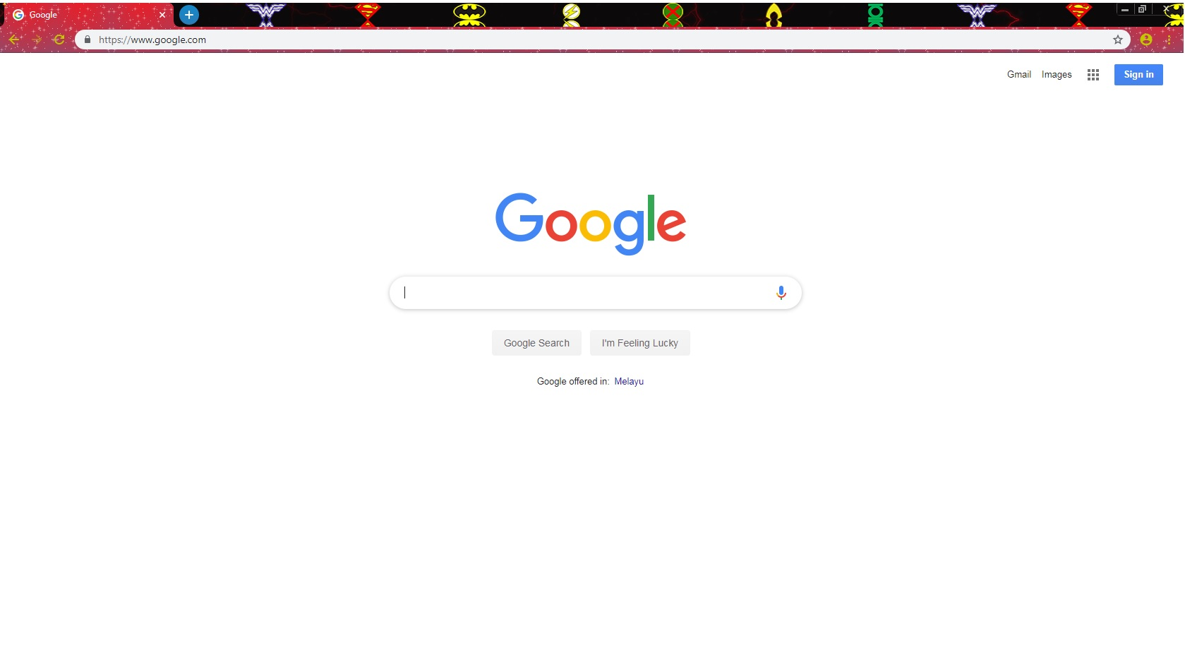 unable to change chrome theme, it only change the top bar