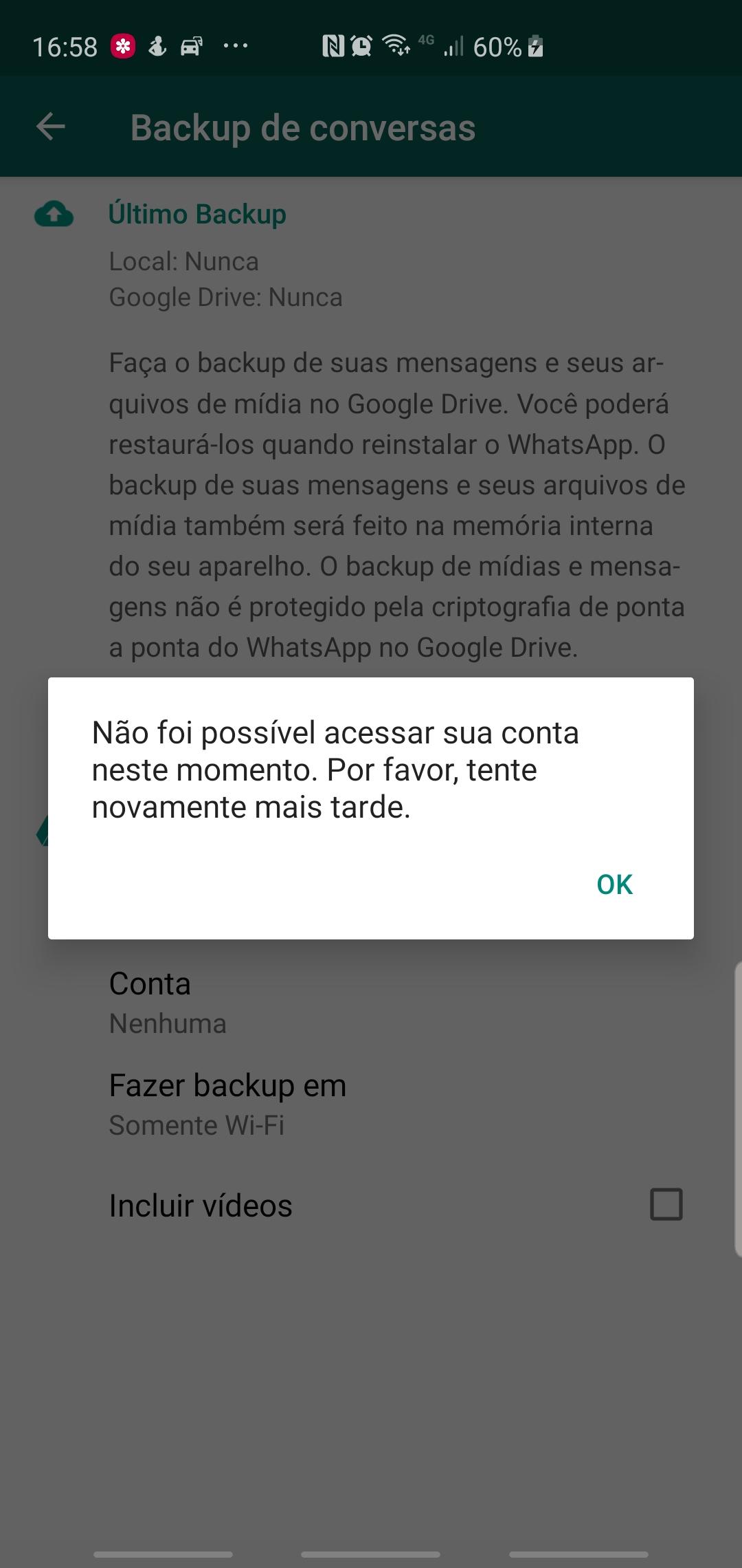 Ta Dando Erro Pra Vincular A Minha Conta Do Google Drive No