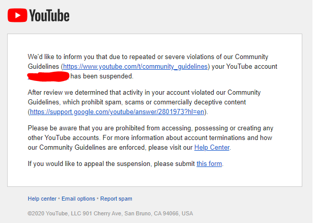 My Account Was Hacked And A Video Was Posted Which Got Me Banned
