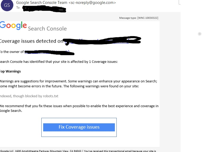 Google Search Console Team Spam