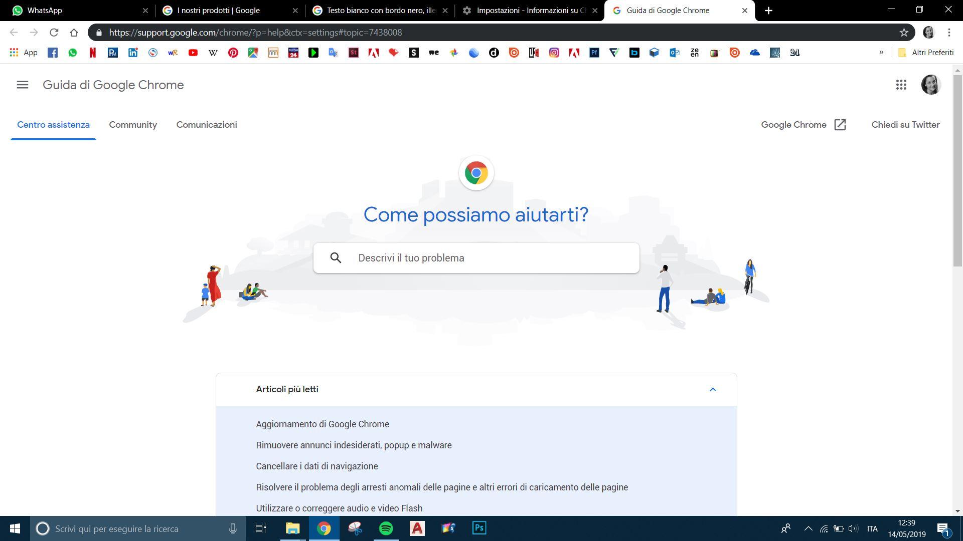 Chrome Con Sfondo Nero E Scritte Bianche Guida Di Google