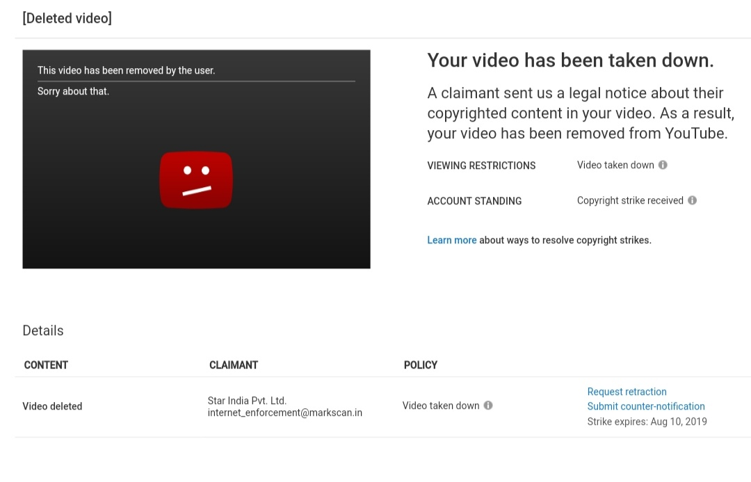 My YouTube channel getting two fake copyright strike ,Please