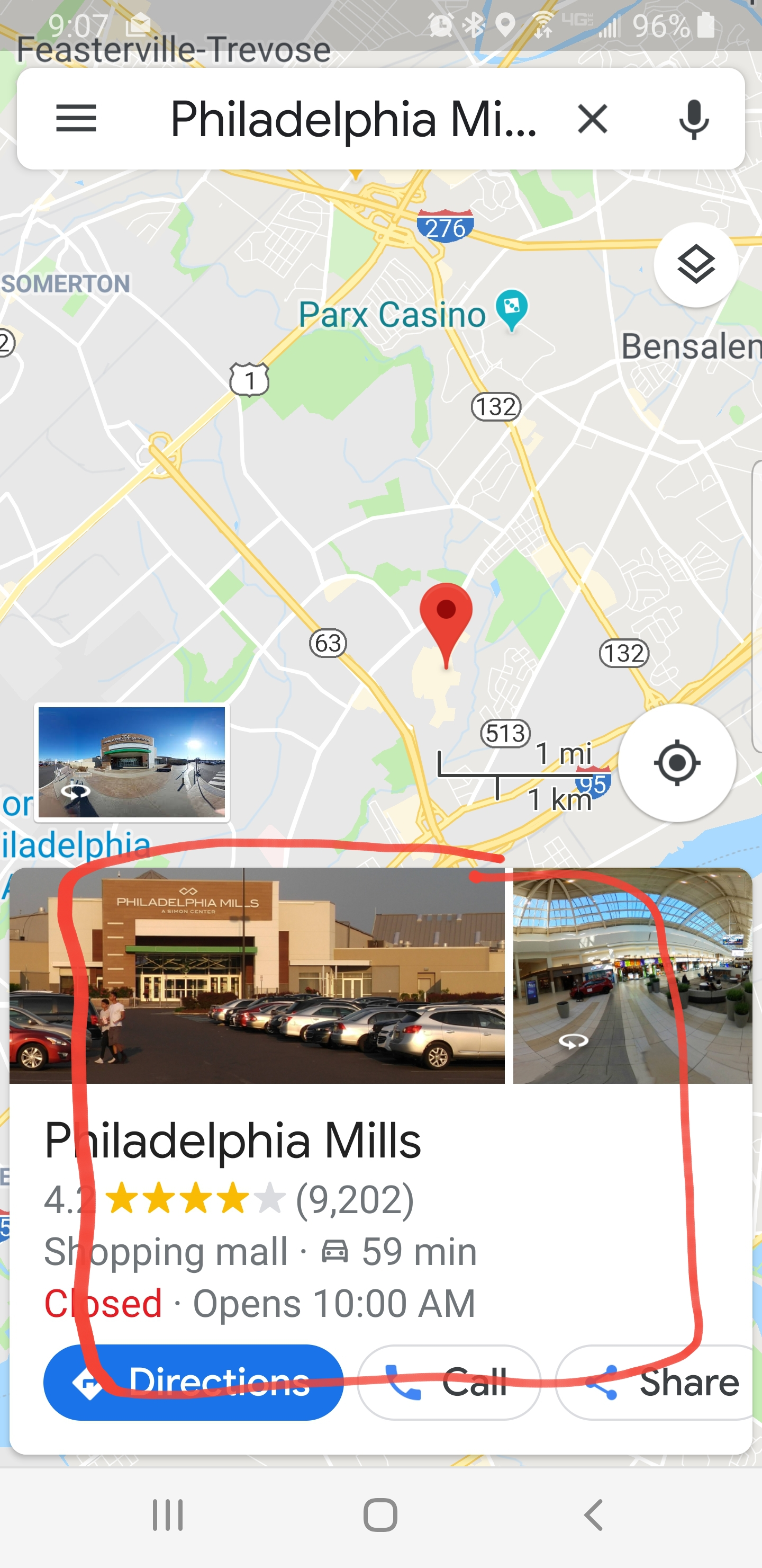 Why On Google Maps On My Android When I Search For A Specific