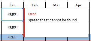 Spreadsheet cannot be found error on importrange() - Docs Editors Help