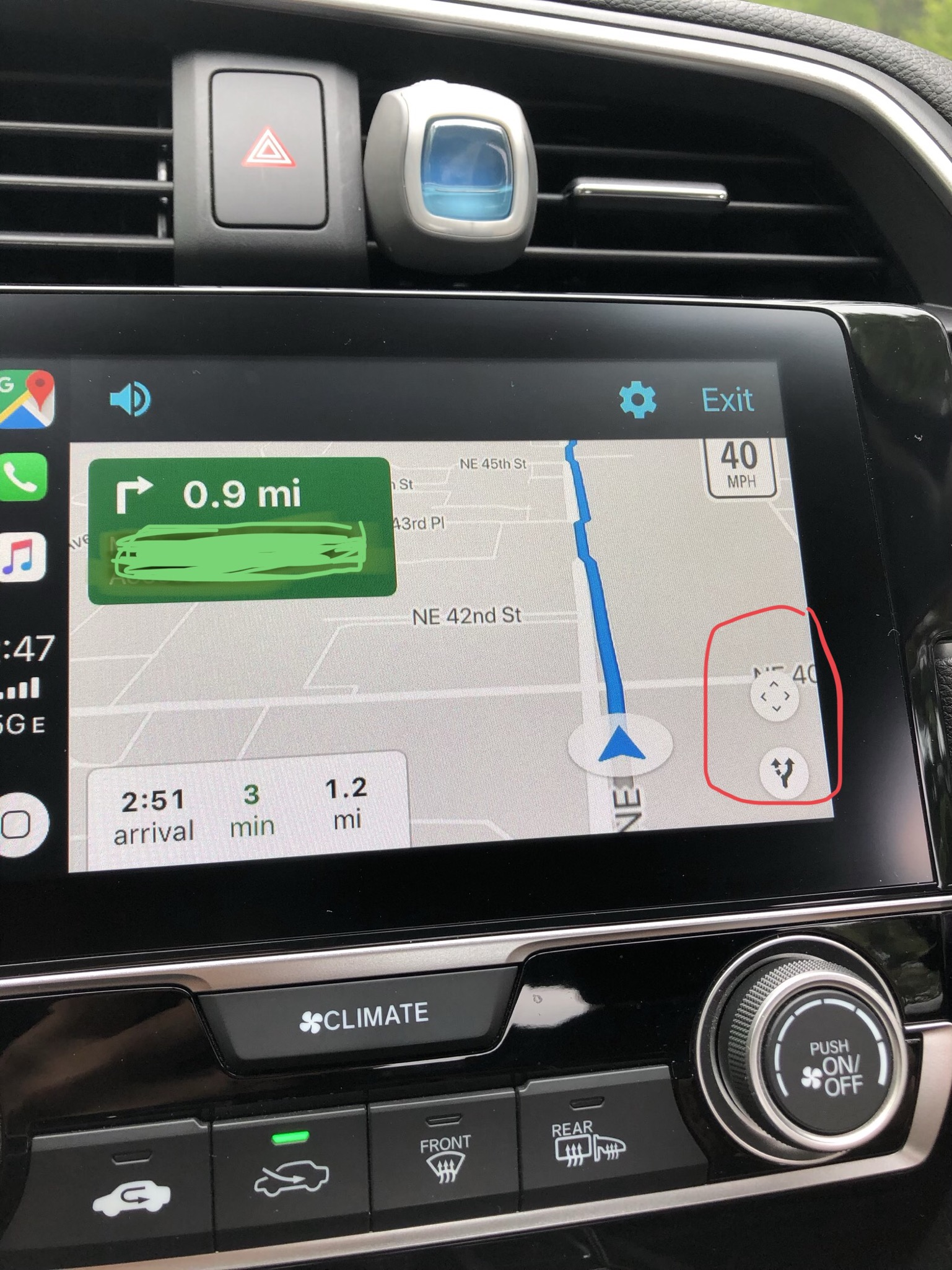 Unable To Search Along Route When Using Google Maps On Carplay