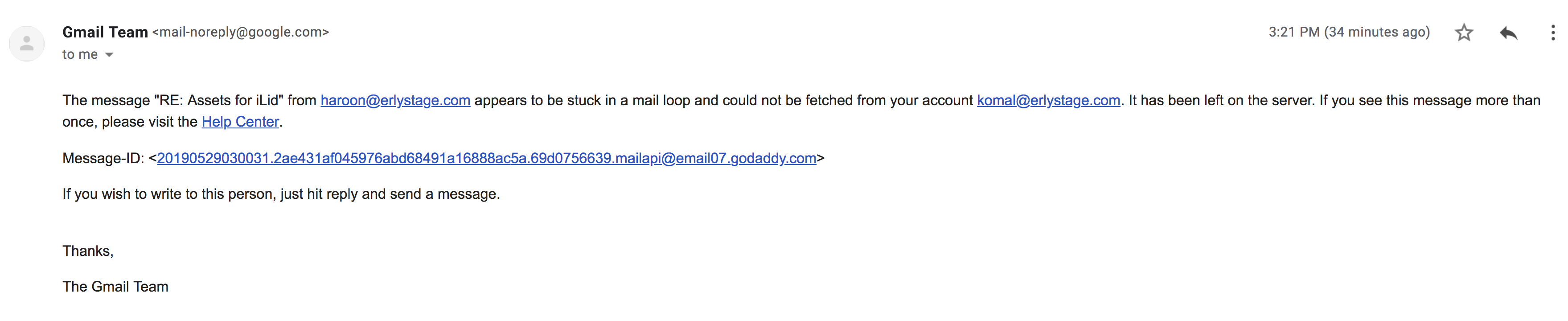 Unsuccessful attempt of moving from Godaddy to Gsuite for