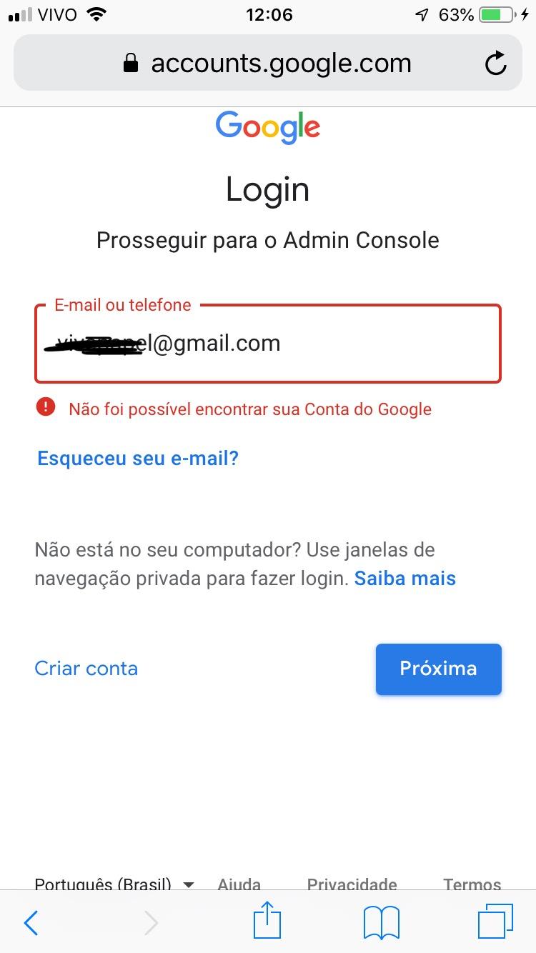 Não consigo acessar minha conta gmail mesmo sabendo o nome e senha, diz que  não pode ser encontrada - Gmail Community